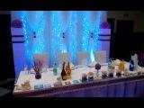 Свадьба. Украшение свадебного зала в сиреневом цвете в Минске.